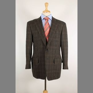 Ermenegildo Zegna 42R Brown Wool Sport Coat 95-a